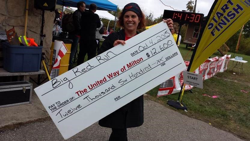 Big Red Run cheque