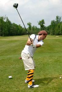 Jesse Matchett in the swing!