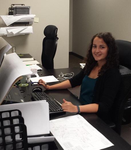 Nicole M at desk