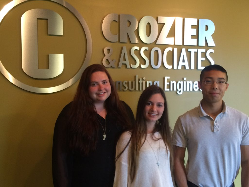 COLLINGWOOD OFFICE CO-OP STUDENTS (from left to right) : SHANNON WILSON, APHRODITE MOUTAVELIS AND FELIX KWAN