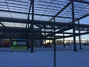 Crozier & Associates Consulting Engineers designed this steel frame commercial building at 2800 High Point Drive, in Milton, Ontario